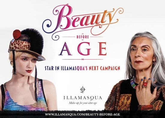 Beauty before Age - star in Illamasqua's next campaign