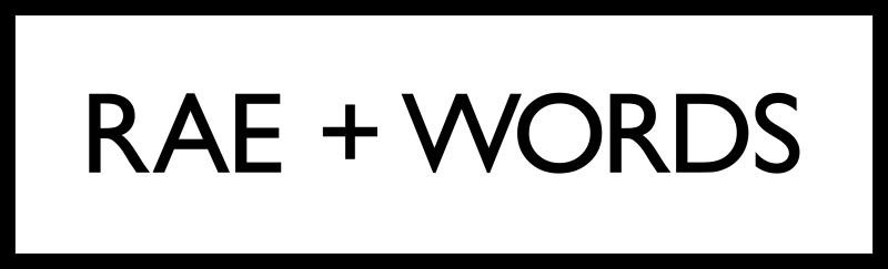 RAE+WORDS logo
