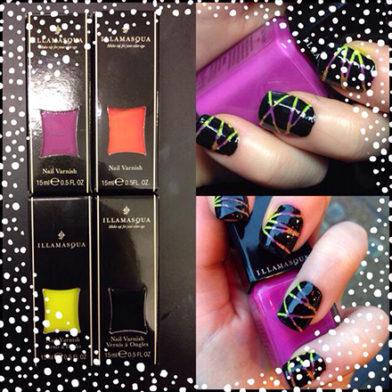 Samantha's Mid-Week Inspiration: Bright Stripe Nail Art