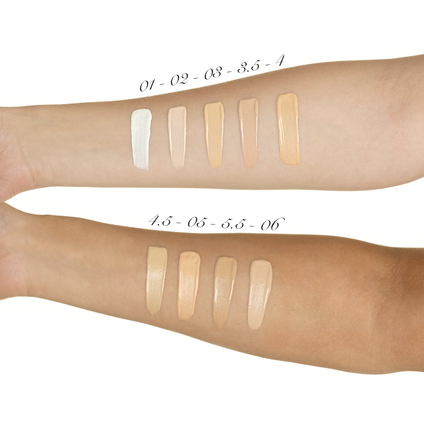 illamasqua skin base foundation swatches