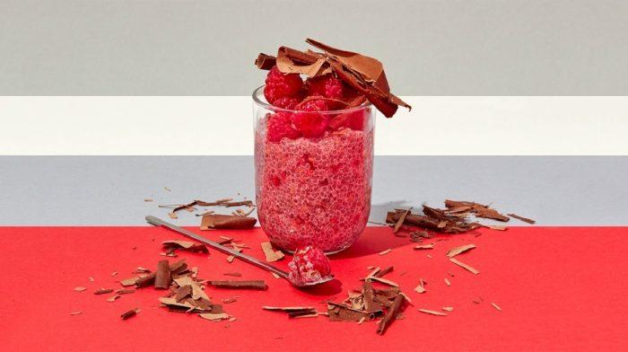 Himbeer-Chiasamen Pudding