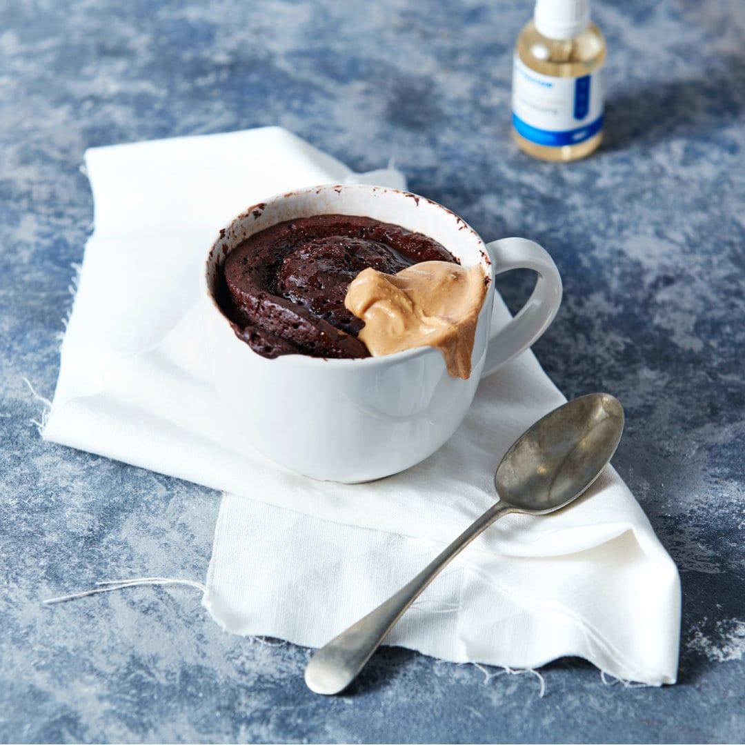 1 分钟杯子蛋糕| 太妃糖蛋白质布丁