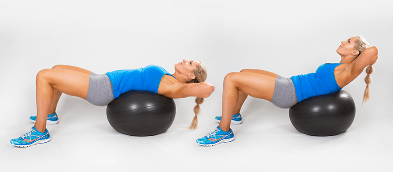 20 minute workout Stability-Ball-Crunches