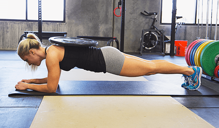 Plank with added weights