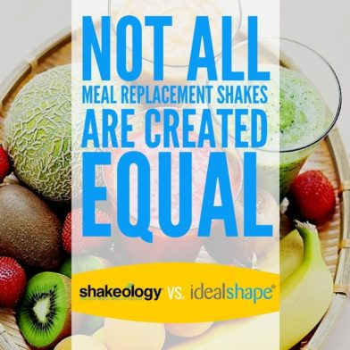 IdealShape vs Shakeology: A Complete Meal Replacement Shake Compare/Contrast