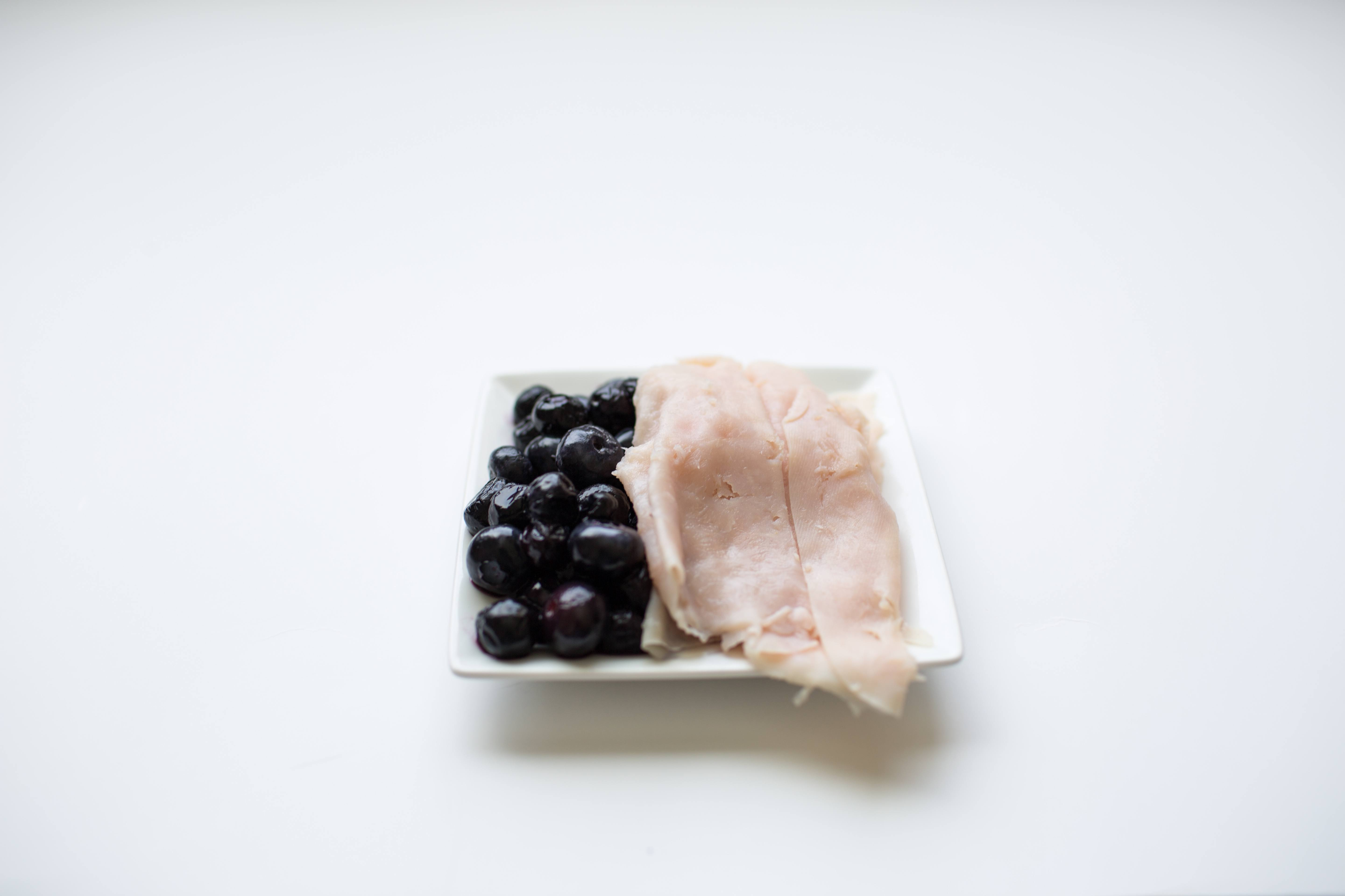 100 calorie snack blueberries and turkey