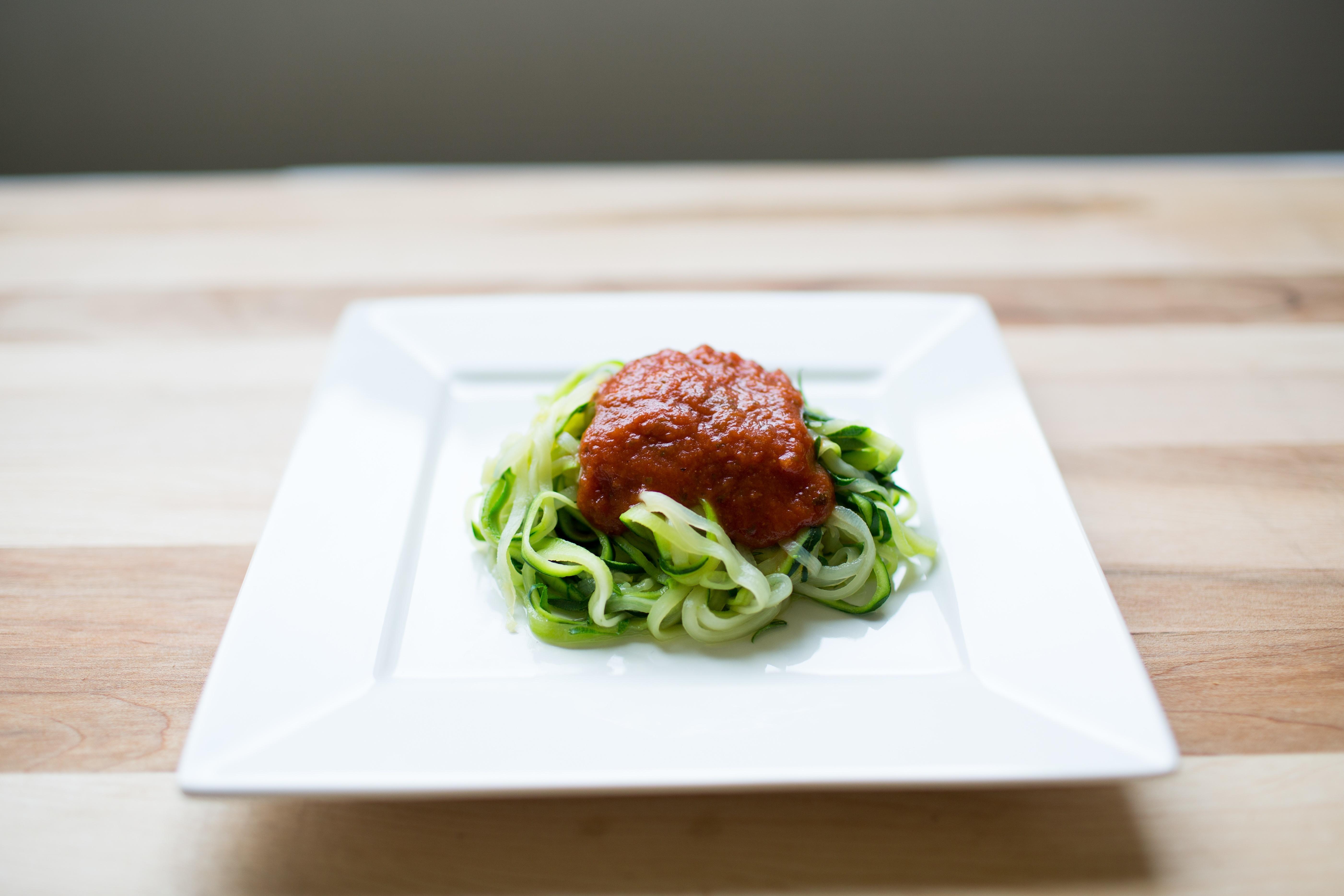 Zucchini Noodles with Marinara Sauce