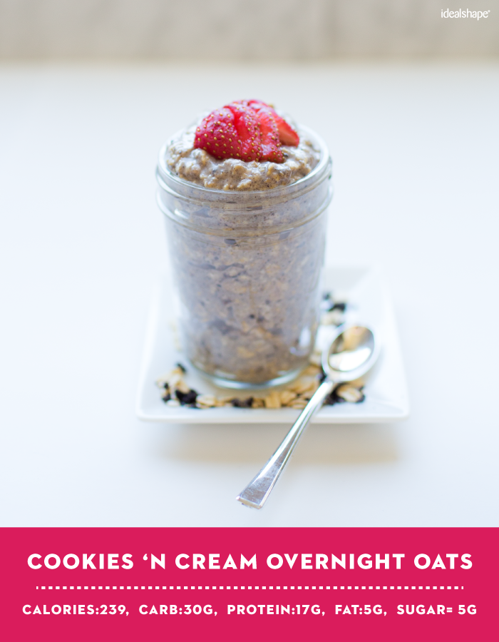 Cookies 'N Cream Overnight Oats with IdealShake