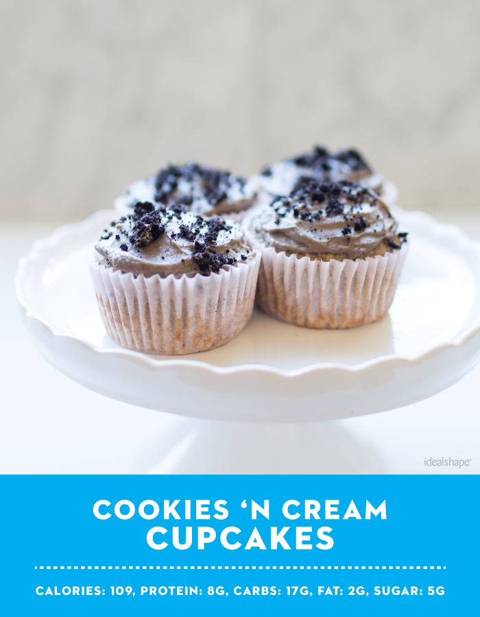 Cookies 'N Cream Cupcakes with IdealShake