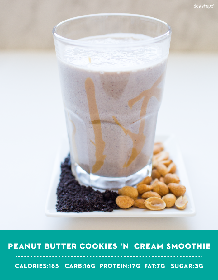 Peanut Butter Cookies 'N Cream Smoothie with IdealShake