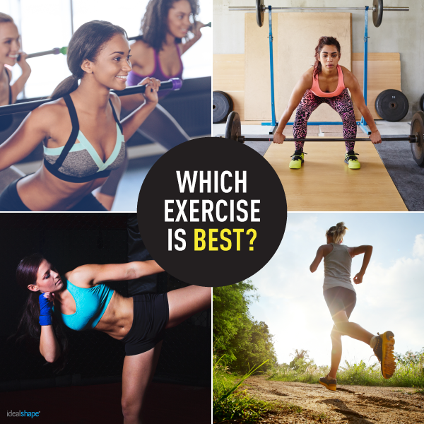 women doing different types of exercises