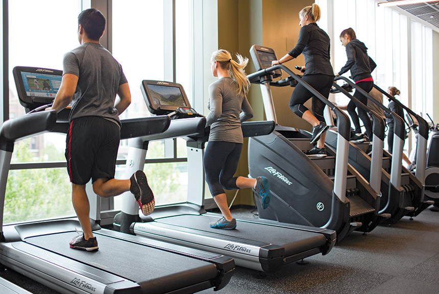different types of cardio at the gym