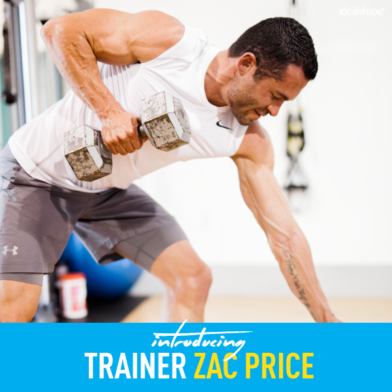 Meet Zac Price, The Newest IdealShape Trainer
