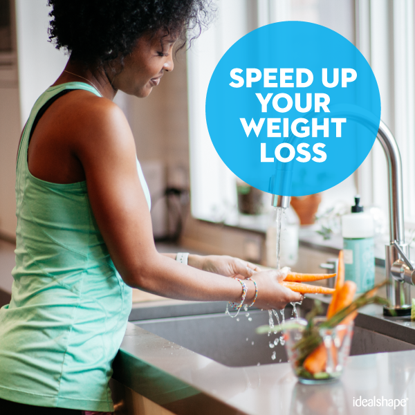 A woman trying to speed up her weight loss