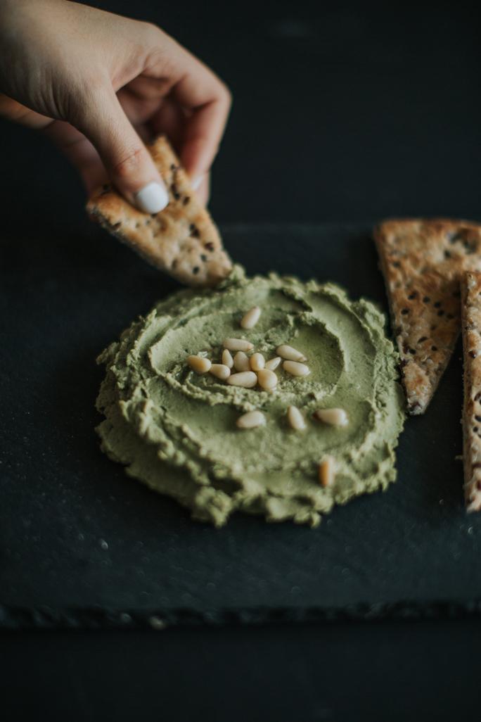 super greens hummus