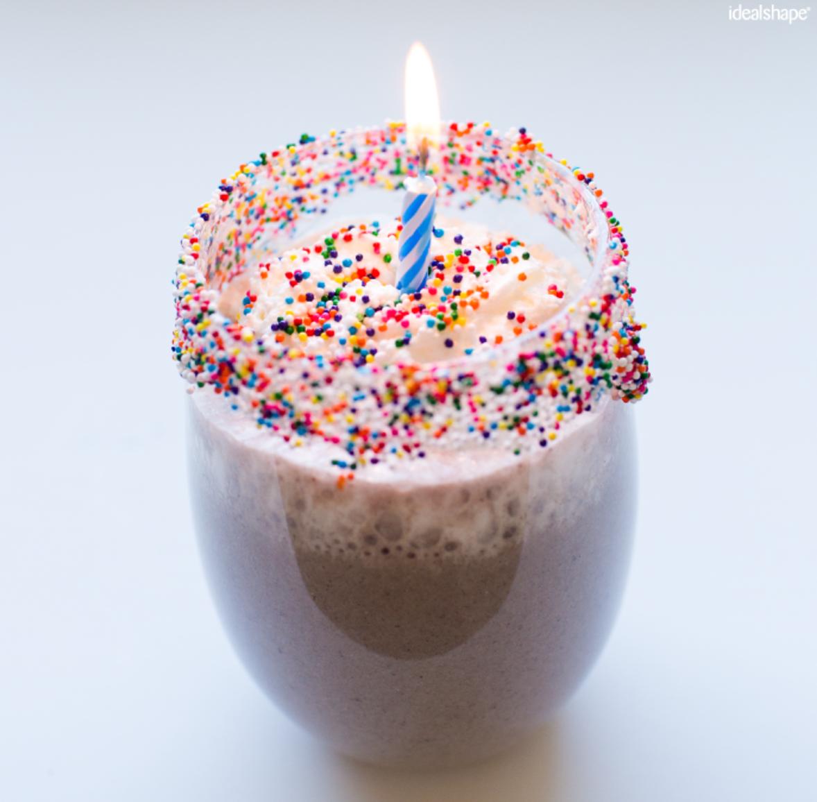 birthday cake shake smoothie