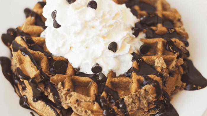 Mocha Protein Waffles