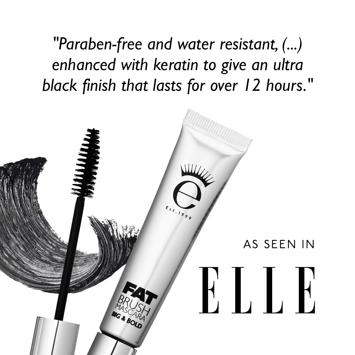elle edit best mascara for volume curl length and curl eyeko fat brush mascara