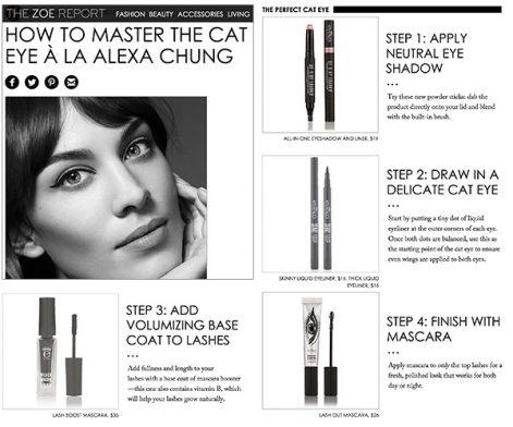 How to Master the Cat Eye à la Alexa Chung