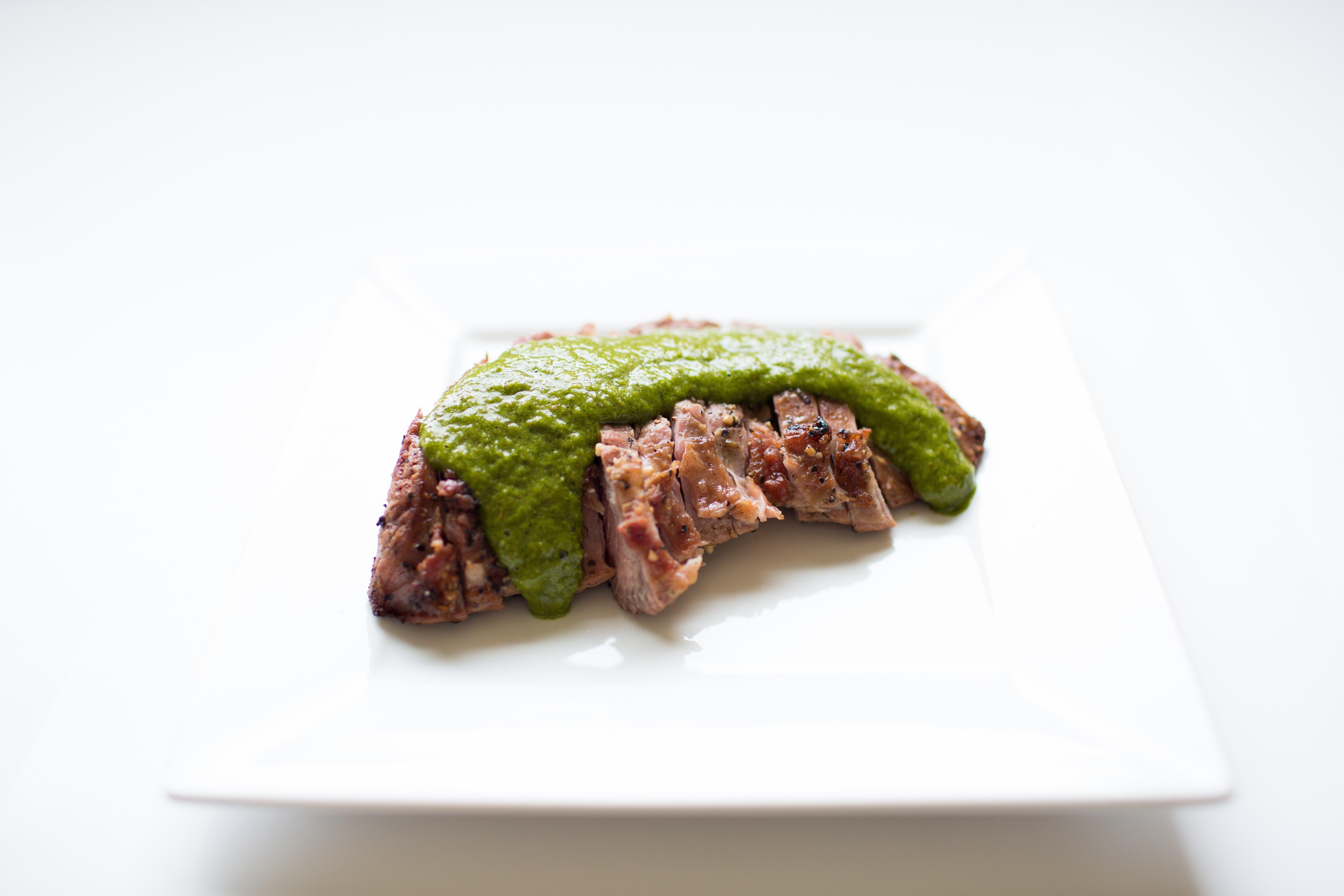IdealFit Steak with Green Chimichurri Sauce