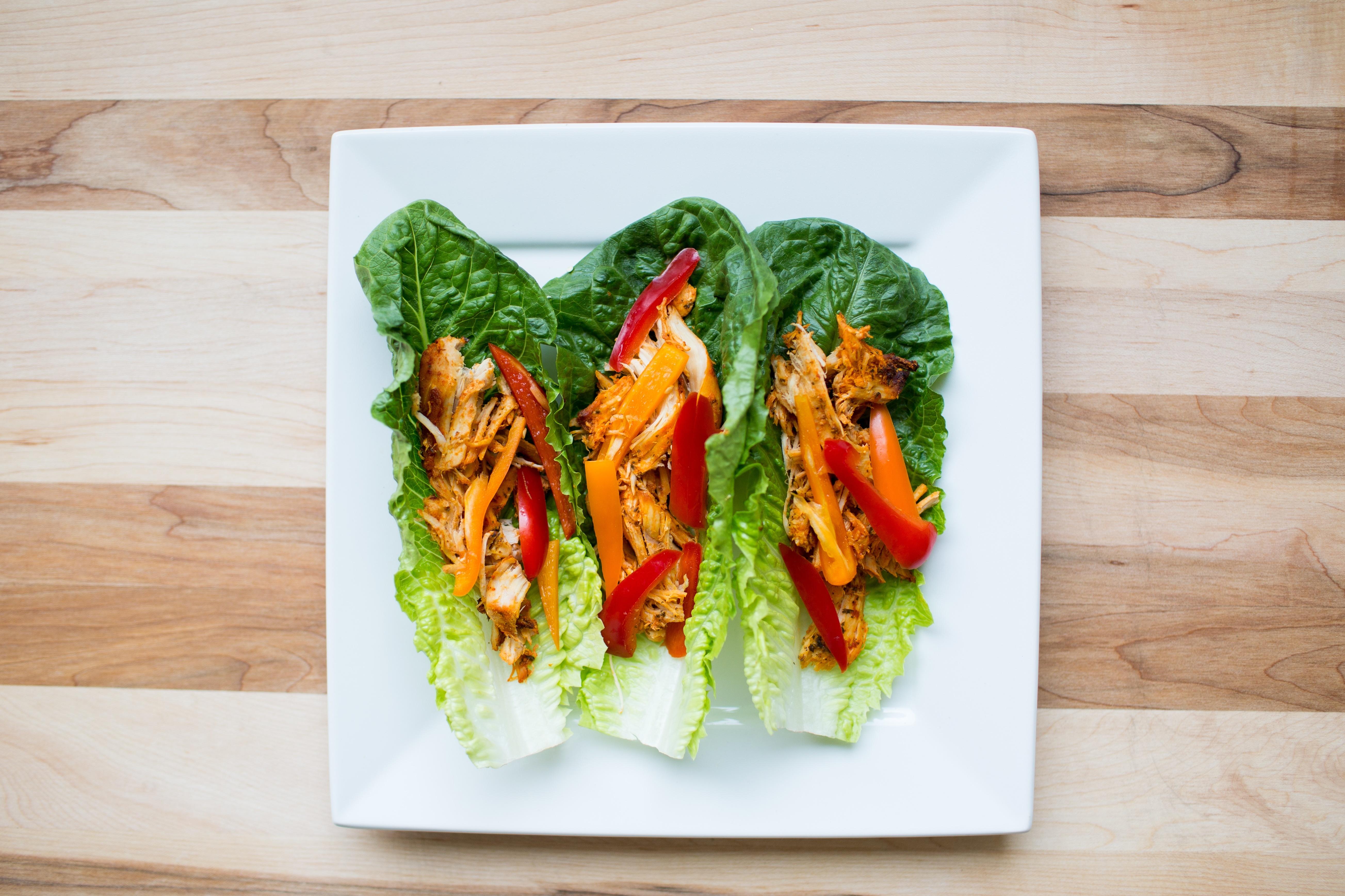 IdealFit Lettuce Chicken Wraps