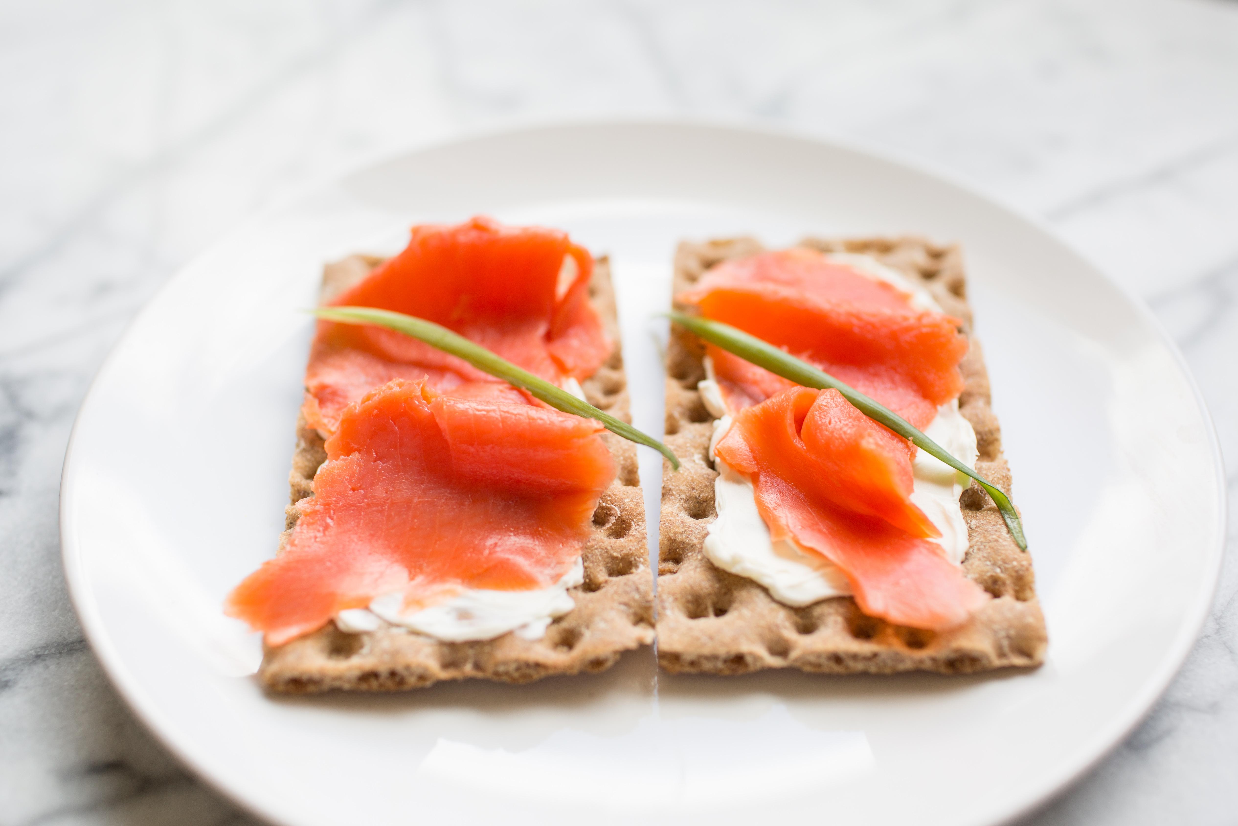 Smoked Salmon on Wasa Crackers