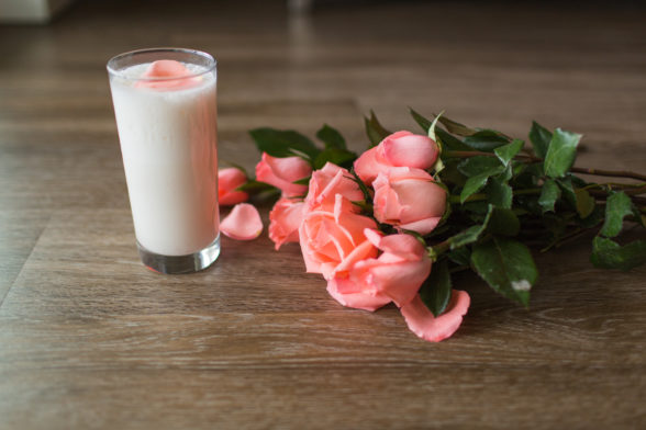 Rose Water Protein Lassi