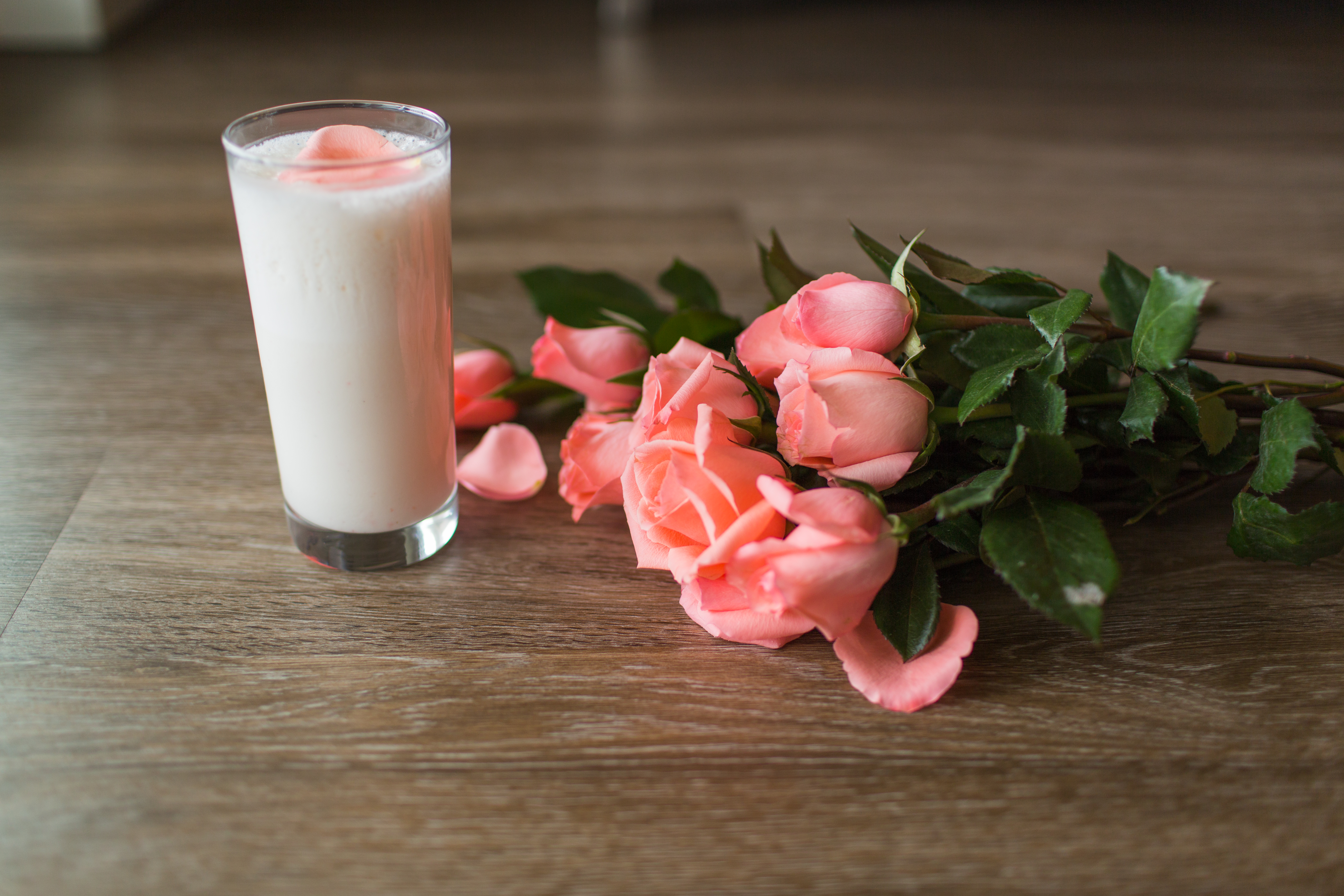 Mother's Day Rose Lassi Protein Smoothie with IdealLean Protein for Women