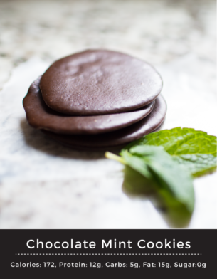 Chocolate Mint Protein Cookies