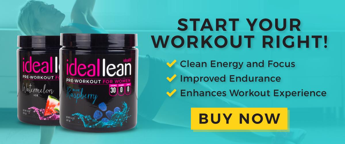 IdealLean Pre-Workout Energy, Endurance, Fat Burn, Buy Now