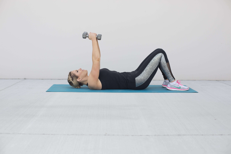 Dumbbell Fly Chest Exercise Step 1