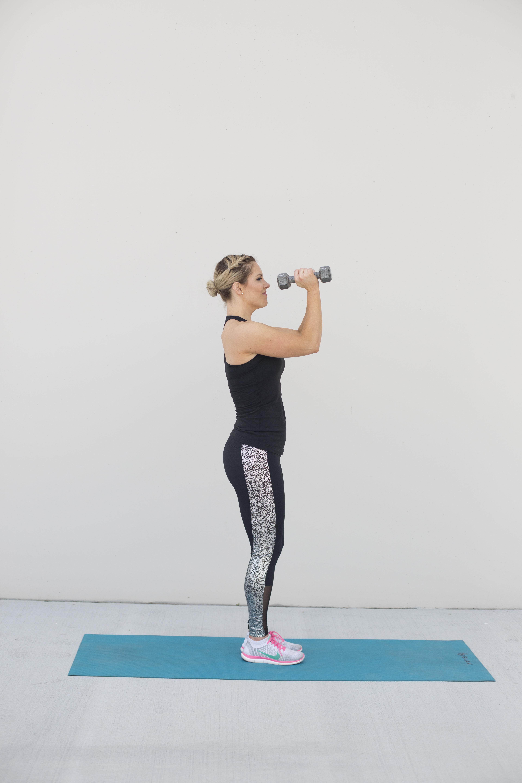 Front Press Shoulder Exercise Step 1