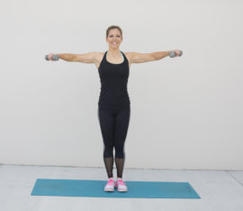 Lateral Dumbbell Raise Exercise Step 2