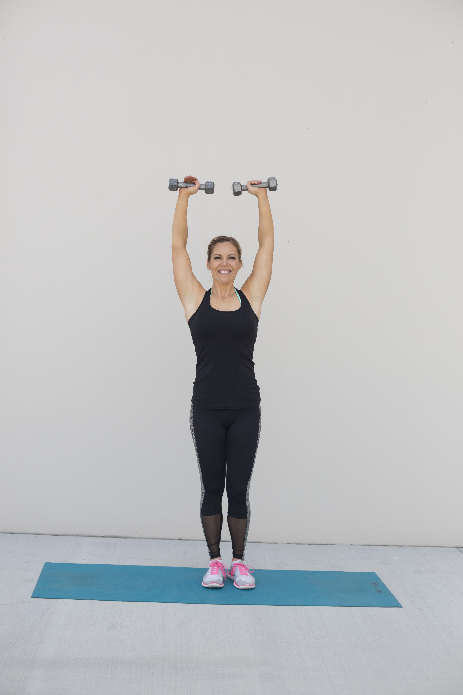Overhead Dumbbell Press Shoulder Exercise Step 2