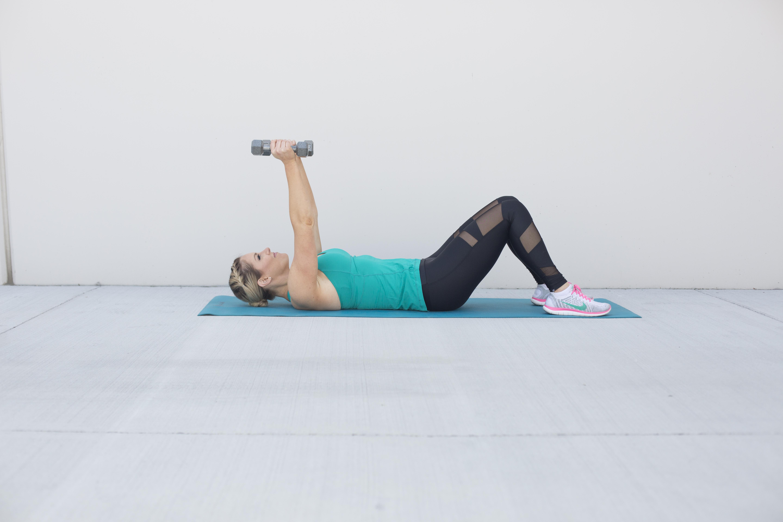 Skull Crusher Tricep Exercise Step 1