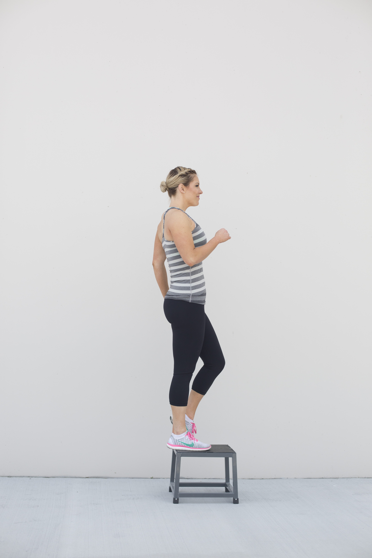 Step Ups Leg Exercise Step 2