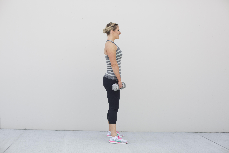 Straight Leg Deadlift Exercise Step 1