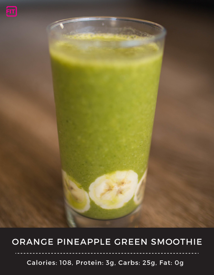 BCAA orange pineapple green smoothie