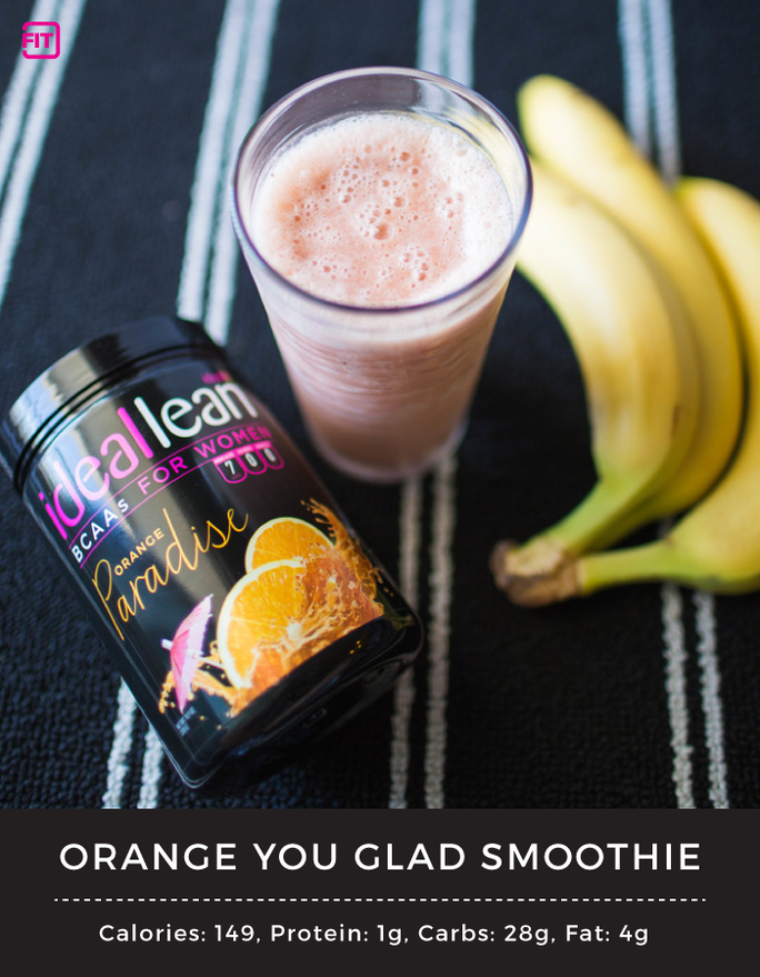 BCAA banana orange smoothie