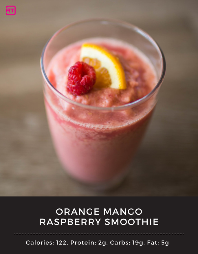 BCAA Orange Mango Raspberry smoothie