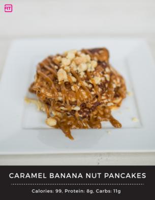 Caramel Banana Nut Protein Pancakes