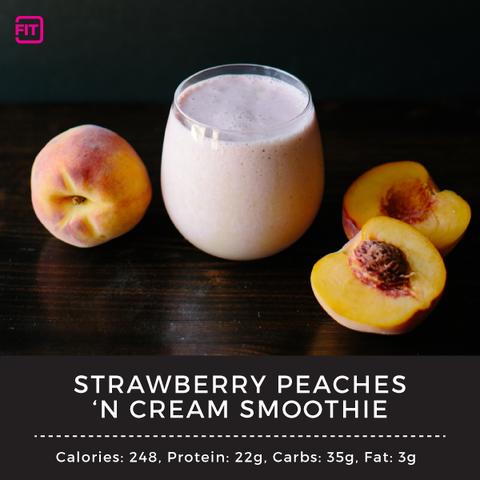 strawberry peaches n cream smoothie