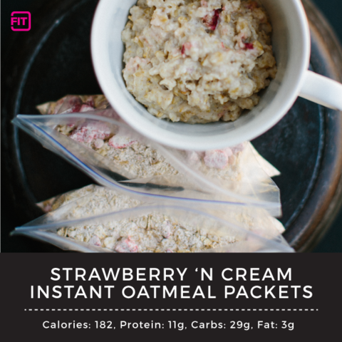 strawberries n cream instant oatmeal packets