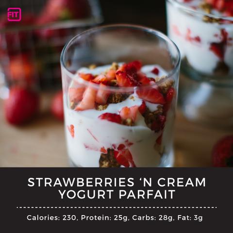 strawberries n cream yogurt parfait