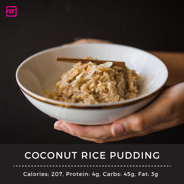 Nighttime snacks-Coconut-Rice-Pudding