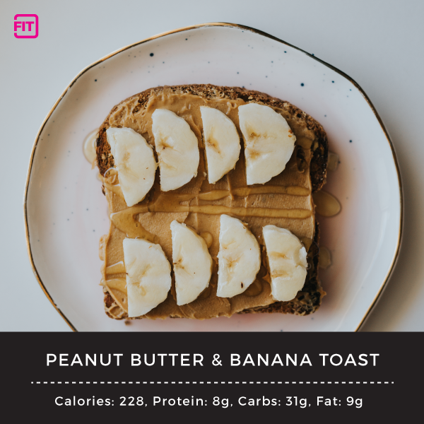 nighttime snacks Peanut-Butter-&-Banana-Toast-