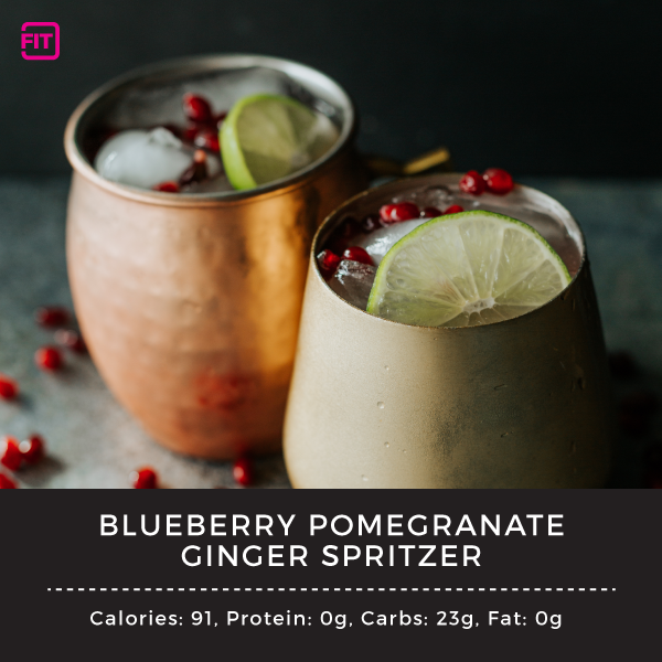 blueberry pomegranate ginger spritzer