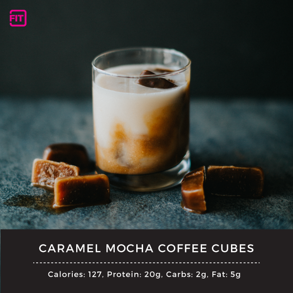 Caramel mocha coffee cubes