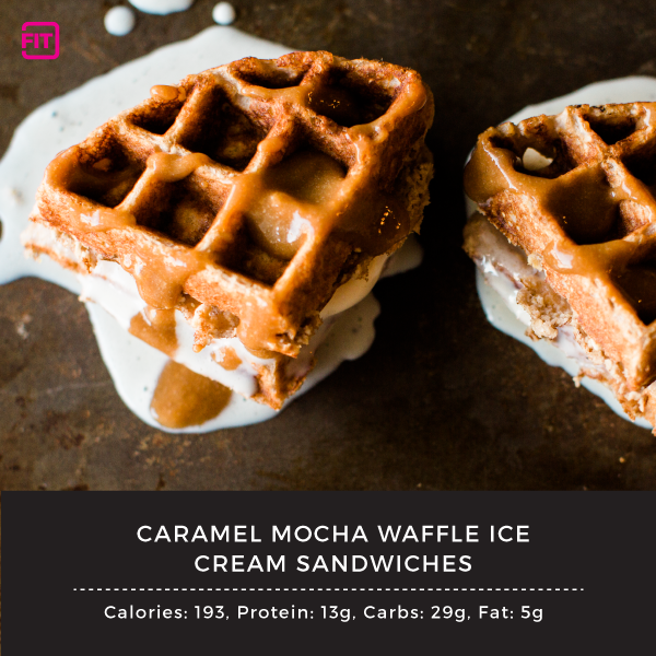 caramel mocha ice cream sandwiches