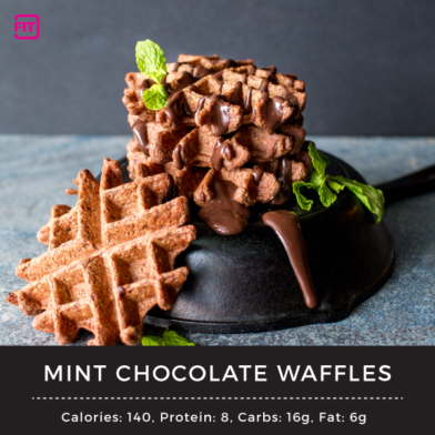 Mint Chocolate Waffles